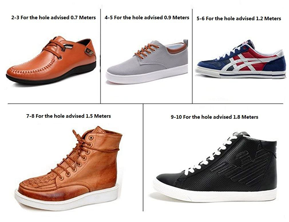 Shoelaces Dress Shoes For Boots Waxed Thin Round Lacets by Santimon 2 Pair(11 Colors and 11 Lengths Available)