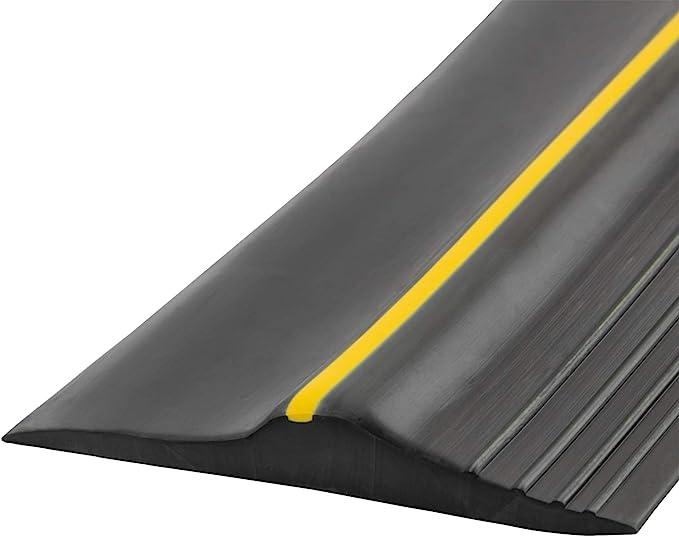 Universal Garage Door Bottom Threshold Seal Strip, Weatherproof Rubber DIY Weather Stripping Replacement, Not Include Sealant/Adhesive (20Ft, Black) - - Amazon.com