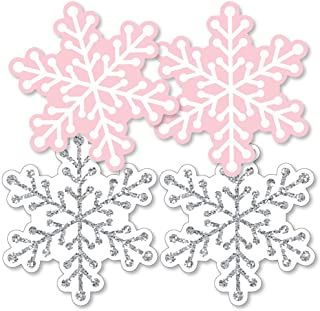 product image for Big Dot of Happiness Pink Winter Wonderland - Snowflake Decorations DIY Holiday Snowflake Birthday Party or Baby Shower Essentials - Set of 20