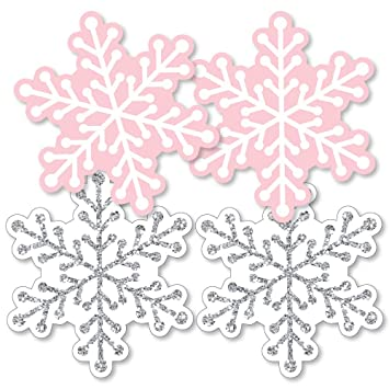 Amazon Com Pink Winter Wonderland Snowflake Decorations Diy