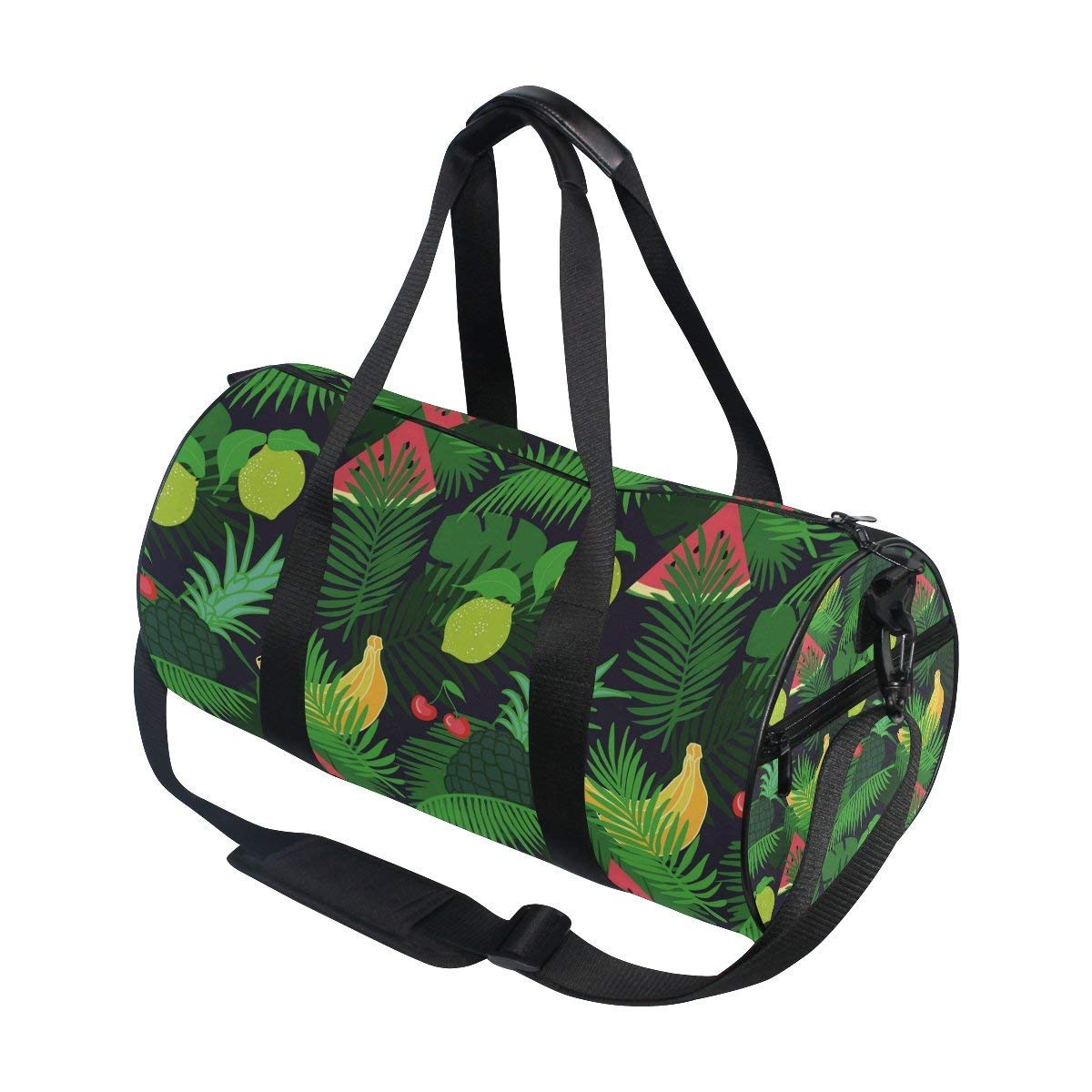 Gym Duffel Bag Watercolor Wolf Sports Lightweight Canvas Travel Luggage Bag