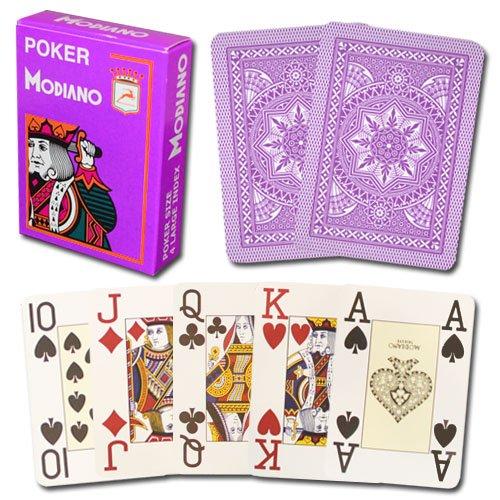 Modiano Cristallo 100% Plastic 4-Pip Jumbo Index Playing Cards