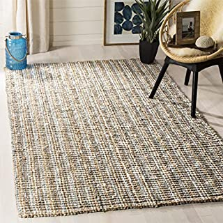 Safavieh Natural Fiber Collection NF447K Hand Woven Grey and Natural Jute Square Area Rug (6' Square) (B00PNQR8II)   Amazon price tracker / tracking, Amazon price history charts, Amazon price watches, Amazon price drop alerts