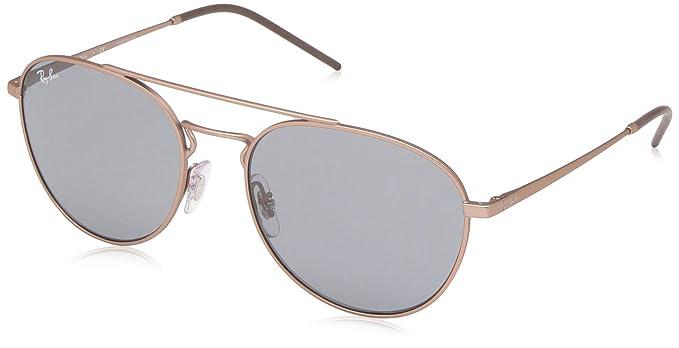 RAY-BAN 0RB3589 Gafas de sol, Rubber Copper, 55 para Mujer ...