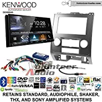Volunteer Audio Kenwood DDX9904S Double Din Radio Install Kit with Apple CarPlay Android Auto Bluetooth Fits 2008-2012 Ford Escape, Mazda Tribute, Mercury Mariner