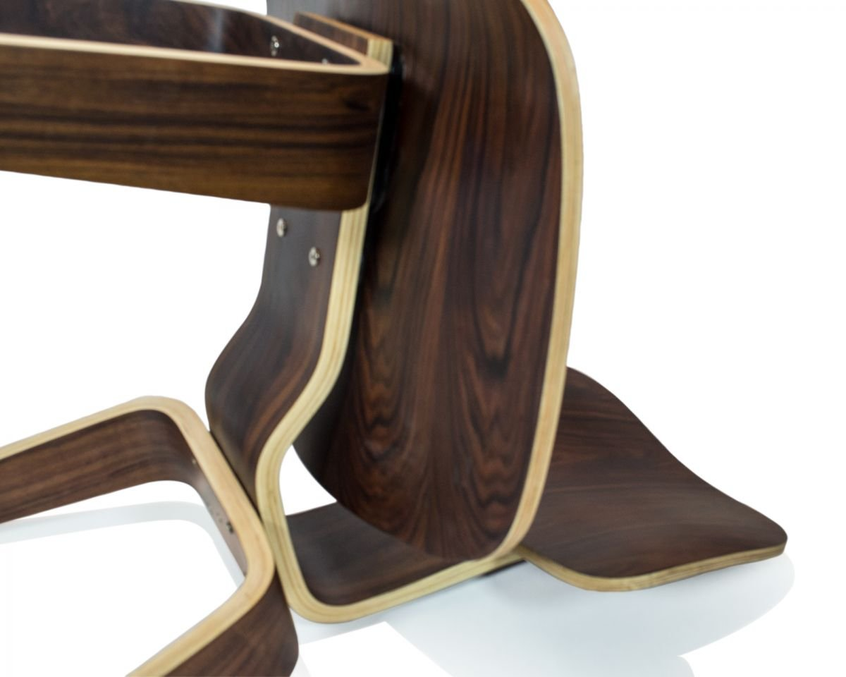 Nicer Furniture /™ Eames Inspired DCW Modern Dining Chair Side Chair in Walnut