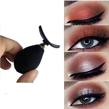 MUPATER Lazy Crease Silicon Eyes Makeup Tool Draw Eyeshadow Stamp (Black)