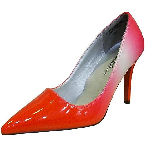 Wild Rose Women s Bert01 Fuschia Pointed Toe Pump Shoes-5.5 9c2929c02
