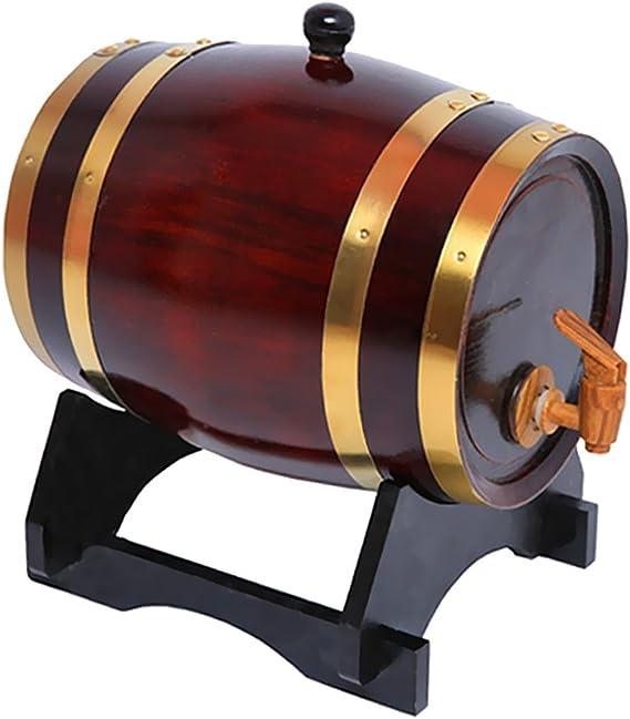 Gazechimp Barril con Grifo de Madera para Cerveza Vino ...