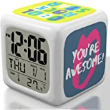 New 2017 Model Alarm Clock - Upgraded Digital Display Model for Kids, Teens & Adults - Today Get 100% Warranty - Clocks for Home and Travel, Work for Heavy Sleepers - Limited Edition