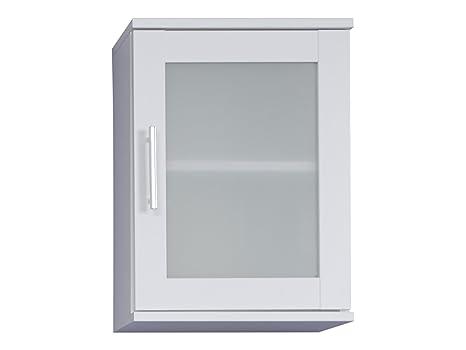 trendteam Badezimmer Hängeschrank Wandschrank Florida, 35 x 48 x 22 cm in  Weiß mit viel Stauraum