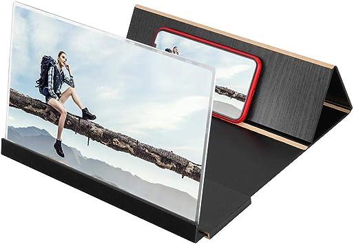 Everpertuk Amplificador Portátil de Pantalla del Teléfono Móvil, Lupa de Pantalla de Teléfono de Grano de Madera de 14 Pulgadas, Soporte Ampliado de Amplificador 3D HD: Amazon.es: Electrónica