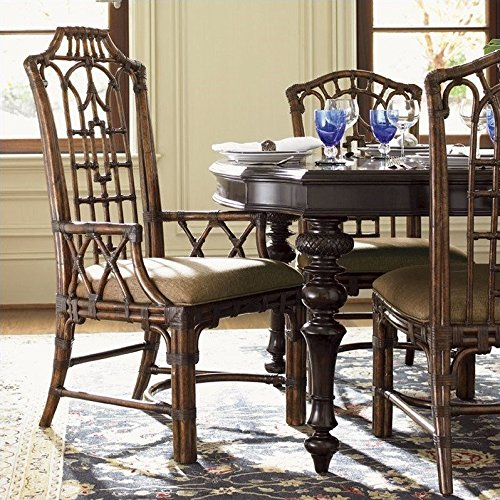Tommy Bahama Home Royal Kahala Pacific Rim Arm Dining Chair (Bahama Tommy Rattan Furniture)