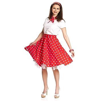 50er jahre rockabilly kleid damenkostum rot schwarz