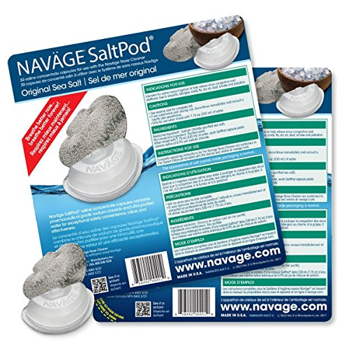 Navage Nasal Irrigation Deluxe Bundle: Naväge Nose Cleaner, 60 SaltPod Capsules, Countertop Caddy, and Travel Case. $160.75 if purchased separately. You save $40.80 (25%) by Navage (Image #3)