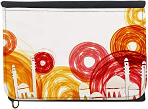 Abstract art - Mosque Printed Case Wallet,  jeans