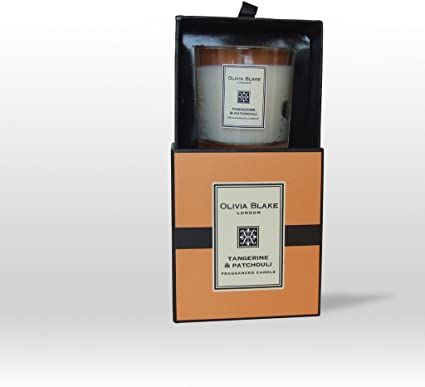 Olivia Blake Tangerine And Patchouli Fragranced Candle With Gift Box Amazon Co Uk Kitchen Home
