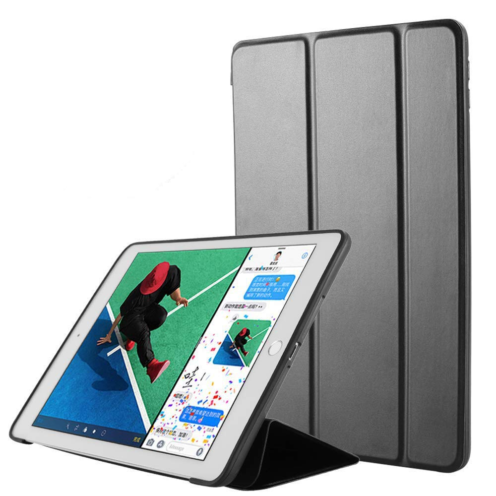ORIbox Case for iPad Air 3rd 10.5''(2019)/iPad Pro 2nd 10.5''(2017), Lightweight Trifold Stand Smart Cover with Auto Sleep/Wake Function, Soft TPU Back Cover, 10.5 Inch, Black