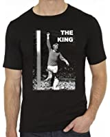 Denis Law The King Man United Men's Fashion Quality Heavyweight T-Shirt.