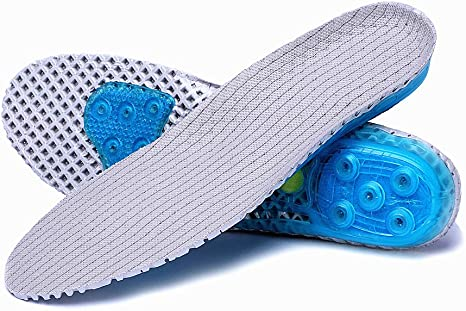 EVA High-Impact Spring Cushioning Shock Absorption Sport Running Shoes Insoles