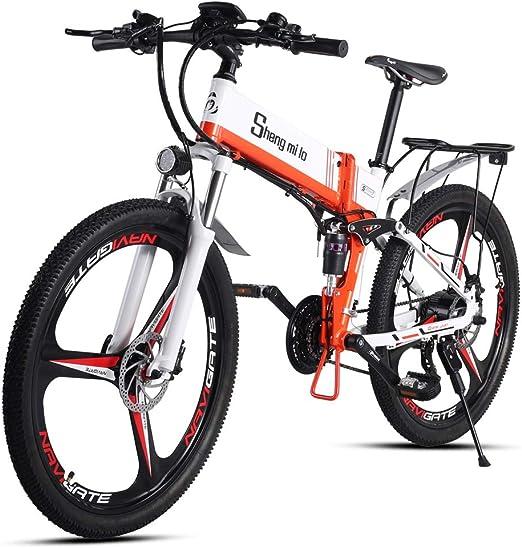 Shengmilo Bicicleta Plegable Eléctrica, Shimano 21 Speed, XOD ...
