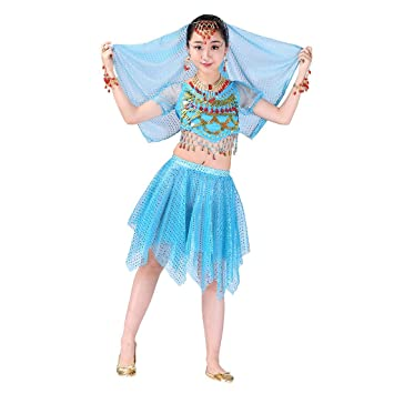 Amazon.com  Girl Belly Dance Dress Performance Outfits Set
