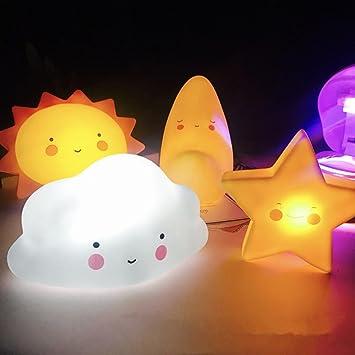 Hunpta Kinder Niedlichen Stern Gesicht Form Lampe Raum Licht