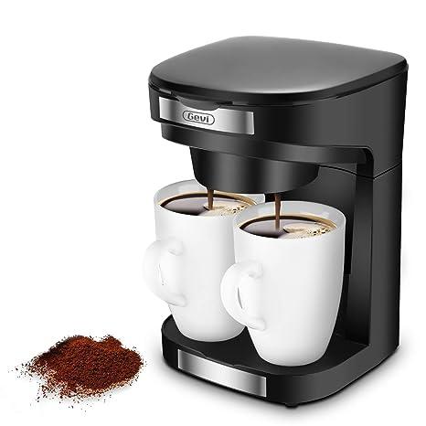 Amazon.com: Cafetera eléctrica de 2 tazas, Gevi Instant Drip ...
