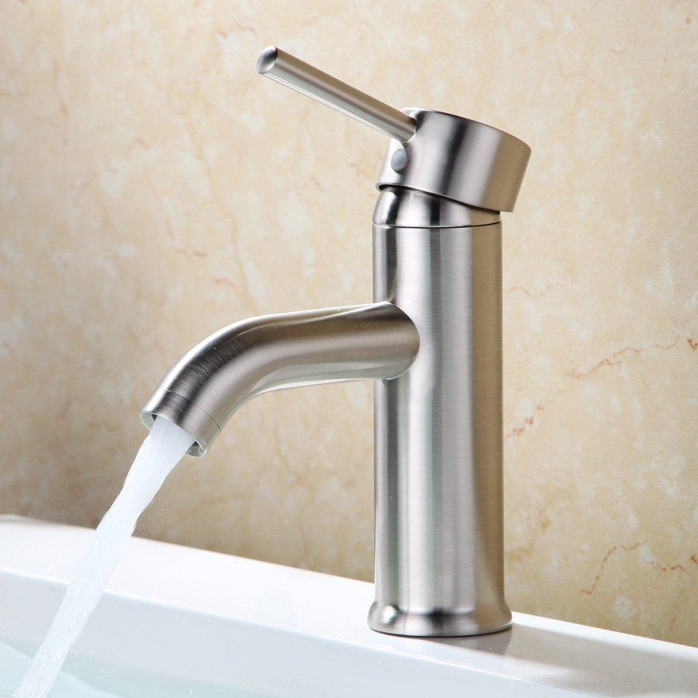 outlet beati faucet modern curve spout single handle deck mounted bathroom vessel sink faucet. Black Bedroom Furniture Sets. Home Design Ideas
