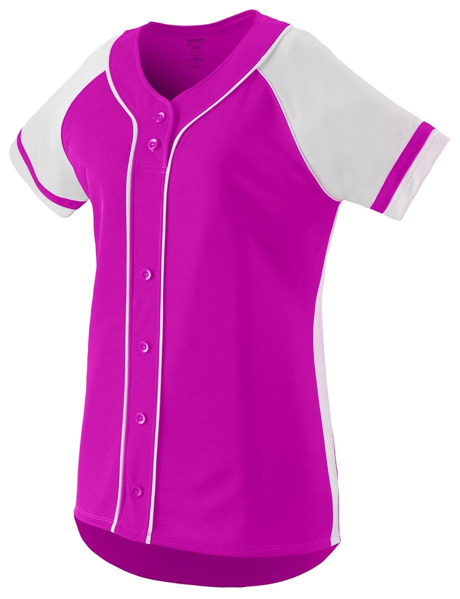 Augusta Sportswear Girls ' Winner Softball Jersey B01C5G6QP4 Large|ピンク/ホワイト(Power Pink/White) ピンク/ホワイト(Power Pink/White) Large
