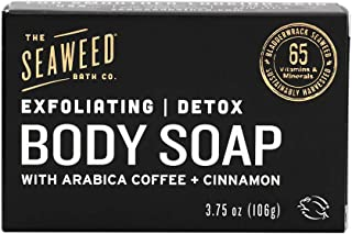 product image for The Seaweed Bath Co. Exfoliating Detox Body Soap, Unscented, With Natural Bladderwrack Seaweed, Arabica Coffee, Vegan, Paraben Free, 3.75 oz.