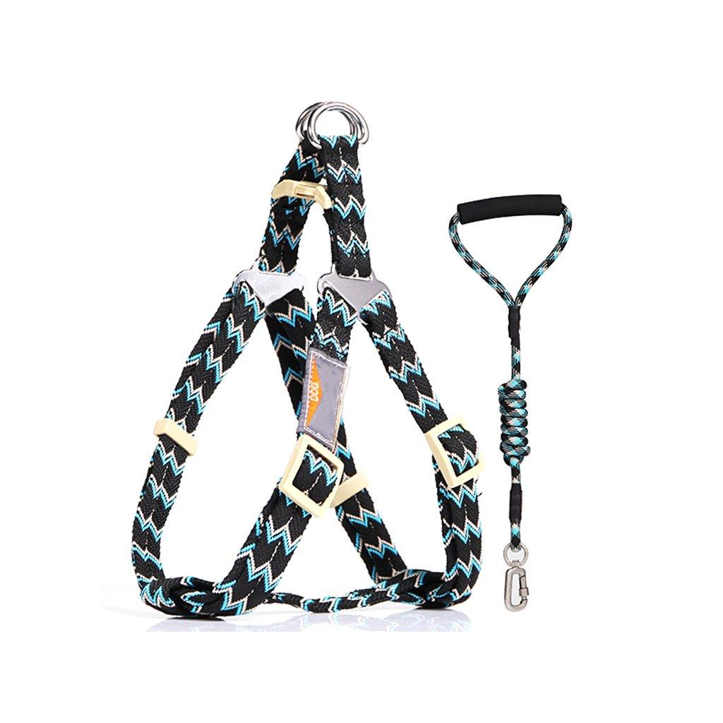 Black S Black S ZH1 Vest Harness Dog Harness, Chest Strap, Collar, Leash, Collar, Medium, Large Dog, Vest, Pet Supplies (color   Black, Size   S)