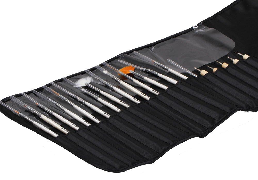 Amazon.com: BMC 20pc Nail Art Design Painting Brushes & Dotting Pen ...
