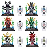 12 Original Boxes 24 Piece Lot Lele Set 4.5cm Plastic Phantom Ninjago Snake Eyes Strom Shadow Ninja with Original Box