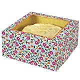 Floral Pattern Cake Box - Large Pack of 2