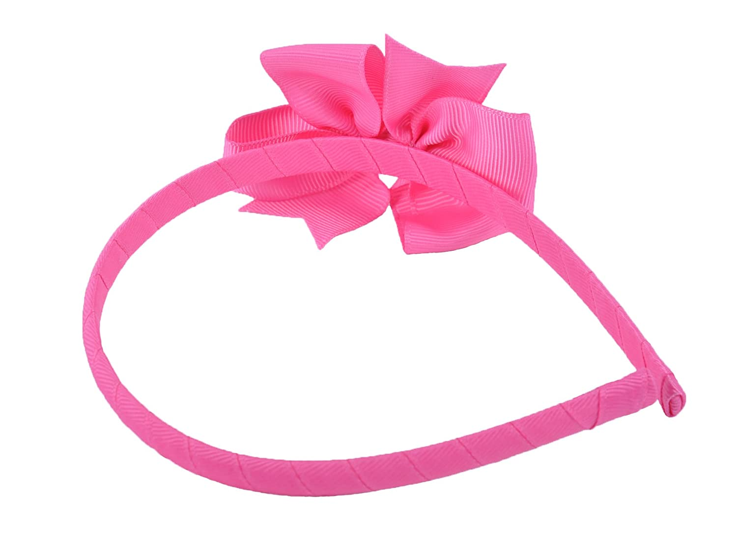 Alice Band with Beautiful Grosgrain hairbow Hair Bow Band Hairband Light Pink