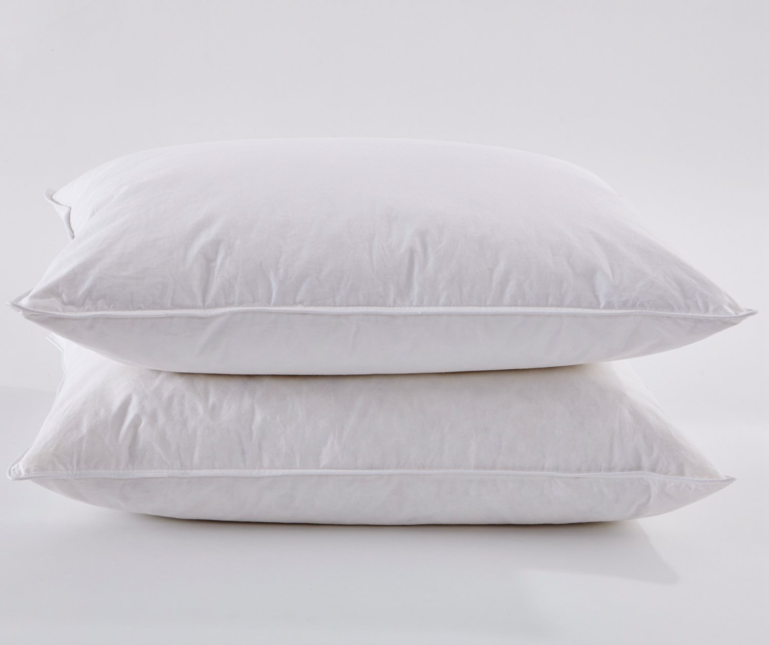 Puredown White Goose Feather and Down Pillow, Set of 2