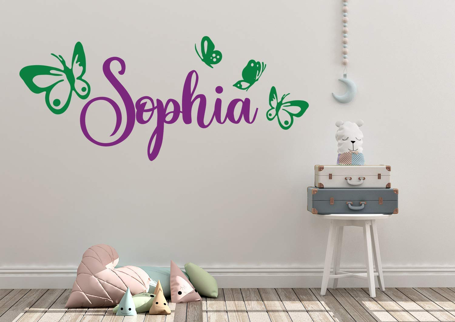 personalized baby gift custom colored wall decal nursery decor Personalized butterfly Wall Decal