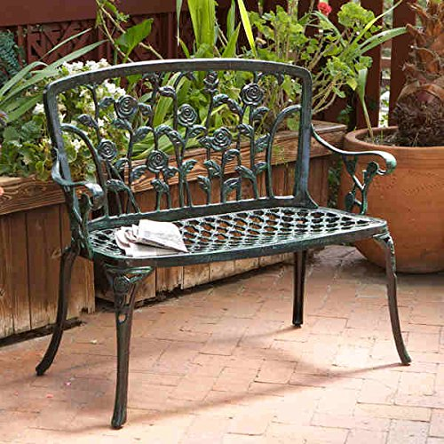 Christopher Knight Home Saint Kitts Cast Aluminum Patio Bench by Unknown