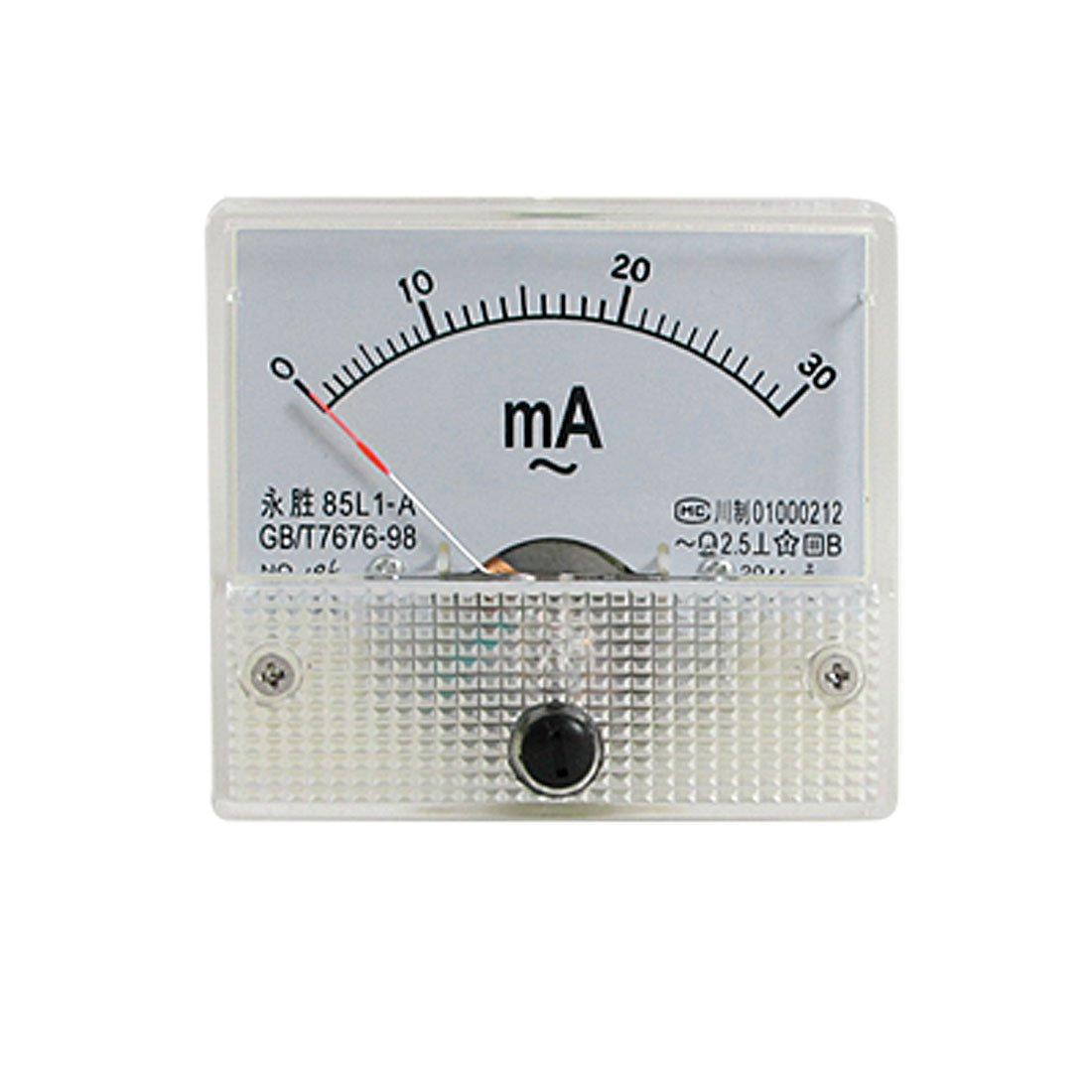 85L1-A AC 0-30mA Rectangle Analog AMP Ammeter Sourcingmap a11052500ux0021