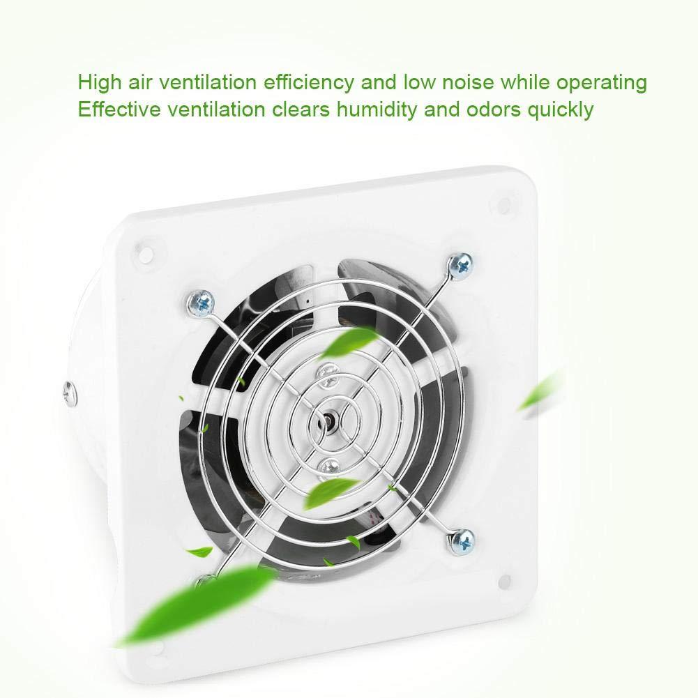 4 Zoll Home L/üftung Wand Montiert Abluftventilator Super Silent Home Badezimmer K/üche Garage Air Vent L/üftung 25 Watt 220 V