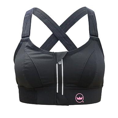 daf5ebe0a16a5 SheFit Ultimate Sports Bra - Black - 4Luxe  Amazon.co.uk  Clothing