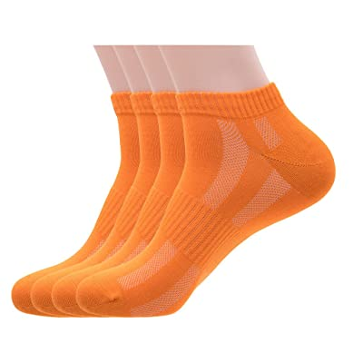 Men's Pearl Fiber Breathable Anti-Odor Anti-fungal Moisture-Wicking Cozy Mesh Casual No Show/Low Cut/Ankle Socks (4-Pack)