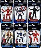 Marvel Legends Captain America Civil War Complete Giant Man Build A Figure Set of All 7 Figures