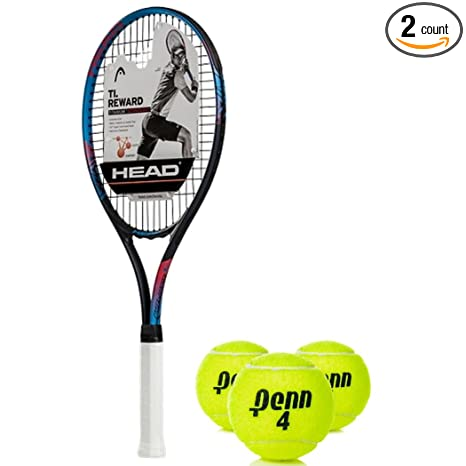HEAD Ti Reward Oversized 16x19 NanoTitanium Black/Blue/Red Tennis Racquet (4 1