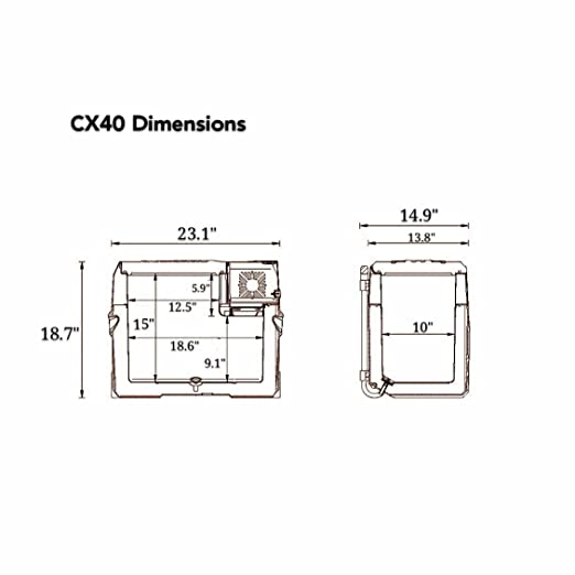 Alpicool CX40 portable compressor fridge freezer 42Quart