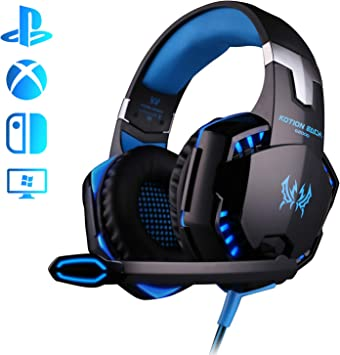 Auriculares Gaming PS4, Galopar Cascos Gaming, Premium Stereo con Microfono Gaming Headset con 3.5mm Jack para PC/Xbox One/Switch: Amazon.es: Electrónica