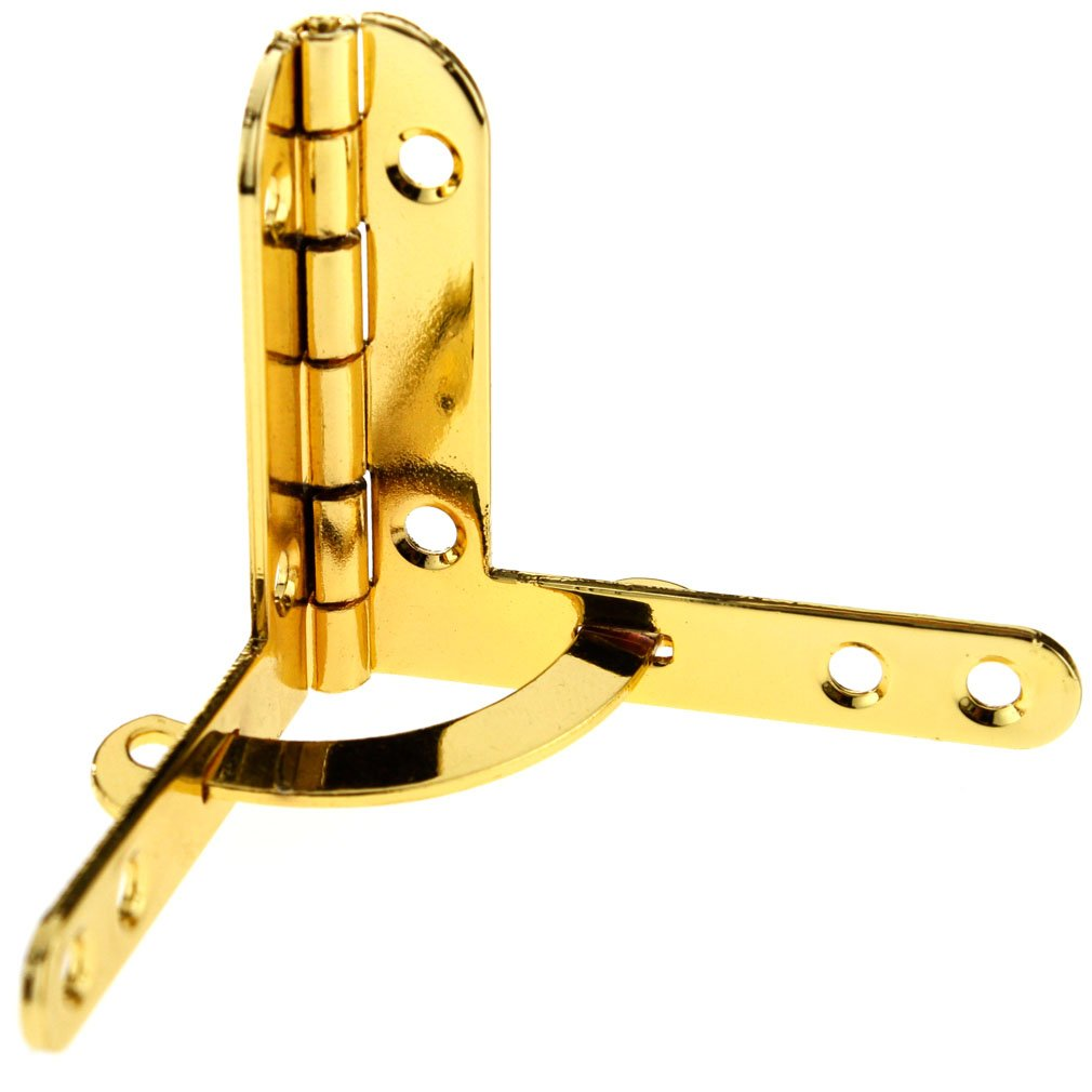 4 x Gold Small Boxes Cases 39.5mm x 42.5mm Quadrant Hinges
