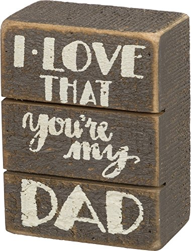 Primitives by Kathy Gray Slat Wood Small Box Sign, 3 x 4-Inches, I Love That You