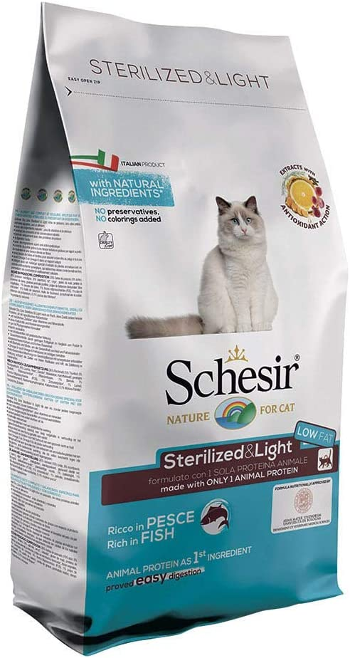 Schesir Comida Seca Gato - 1500 gr: Amazon.es: Productos para mascotas